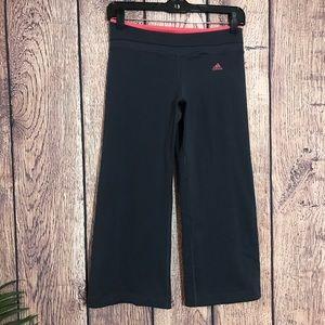 Adidas Cropped Capri Pant S Gray Pink Stretch